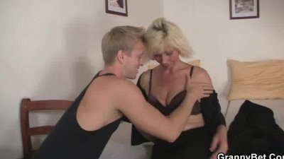 Blonde  allows him drill her old cunt