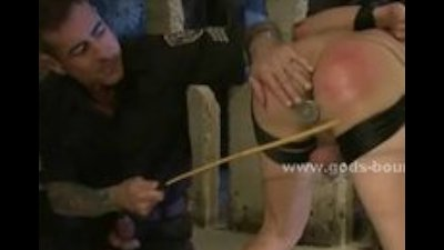 Boy caught painting walls is made to fuck in extreme bondage se