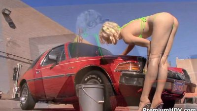 Lily Labeau bikini car wash an