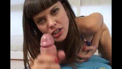 busty spanish Lola De Valle giving a good Handjob