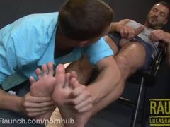 Johnny Angel Submits to Arpad Miklos  Feet