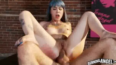 Emo Teen Krysta Kaos takes a large cock in her ass