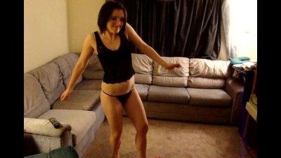 Hot Drunk Girlfriend Dancing