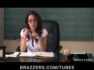 Sexy busty school teacher fucks her students bigdick in detention