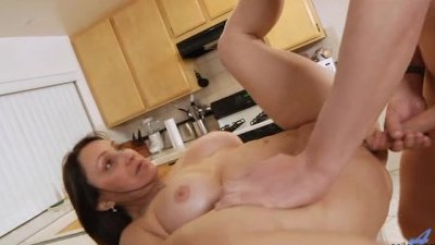 Bigtit milf Jillian Foxxx pounded in kitchen