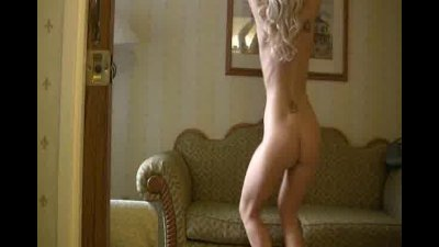 sexy blonde Jackie Robin shaking up her nice smooth ass