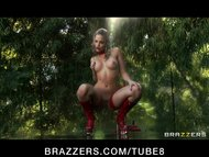HOT blonde pornstar Alexis Texas in lingerie gets assfucked outdoors