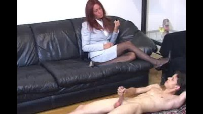Solo cock masturbation for peeping Tom's punishment