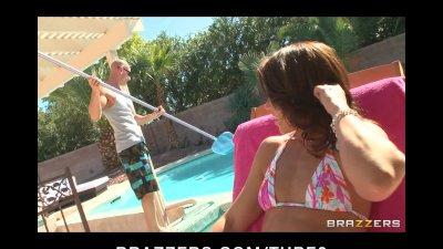Brunette Milf in bikini fucks