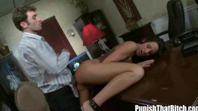 Brunette Kortney Kane gets Punished from Behind