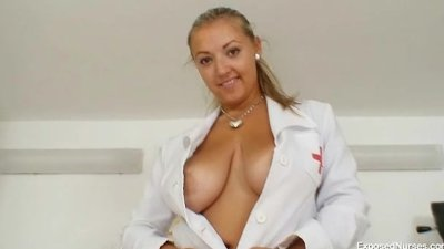 Big tits plump nurse donna gets nasty in hospital
