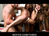 mofos live sex show 5  pornstars bryanna, taylor and koi rogers Porn Videos
