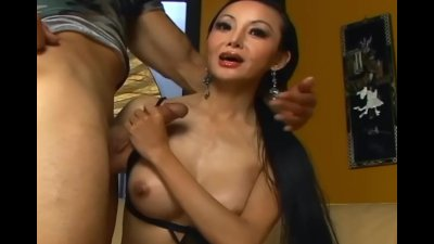 Asian sex in stockings and heels
