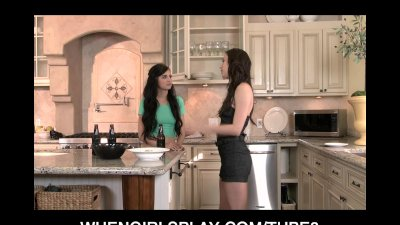 Horny young skinny teen lesbia