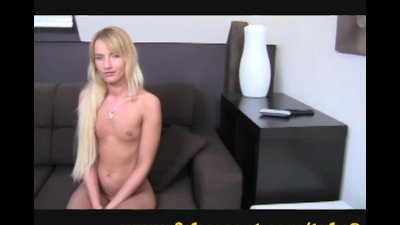 Shy blonde gets explored by a
