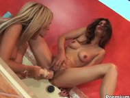 Lesbian/lesbian toying horny chicks naked