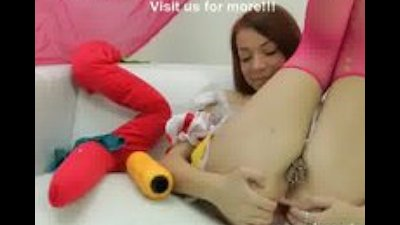Snow white with pierced pussy and huge anal hole