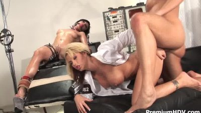 Weird sex game with a slave