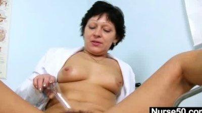 Sexy Milf in nurse uniform str