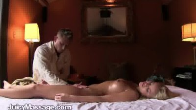 Horny Blonde Gets A Sexy Massage At Home