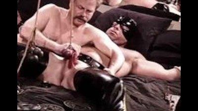 CBT muscle bear bottom ball punishment.