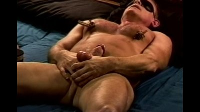 CBT hung muscle dude's balls hammered.