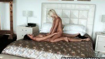 Horny blonde slut Lola has cut