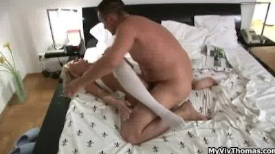 Horny blonde whore gets her ti