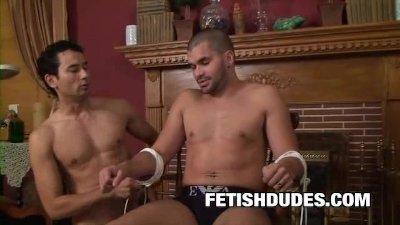 Bondage Dude Danny Lopez Earns Cock Of Friend