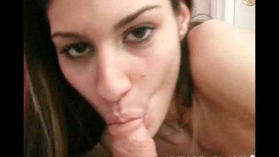 Teen beauty sucking a cock on camera