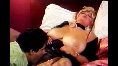 Blonde slut with big tits fucks guy