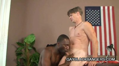 Hot Dilf Mark Galftone Analized By Big Black Dick