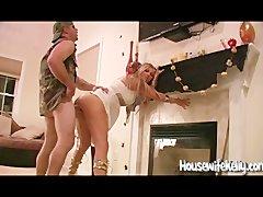 Halloween Swingers make a Homemade Sex Video