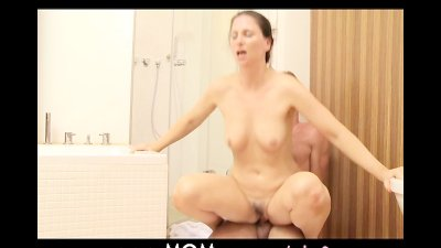 MOM Shower sex for MILF with y