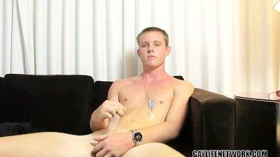 Military Boy Jerks His Hot Dick