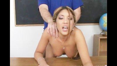 Cute schoolgirl banged by smal