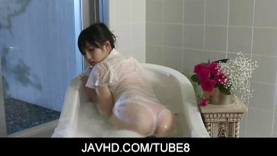 Hot asian doll Azusa Nagasawa all wet as she gets playful