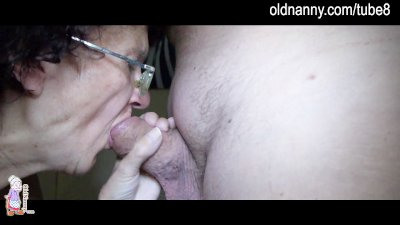 Old mature and young girl doin
