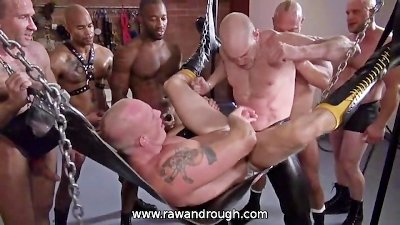 Gang Bang Raw Pounding
