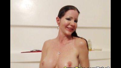 HOT Blonde Masturbates in the Shower HD