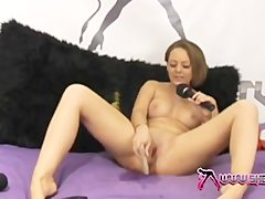 Shebang.TV  Sexy Crystal Pink squirting on the pink bed