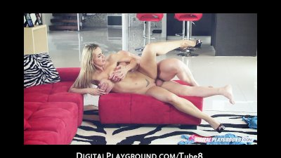 Sexy blonde wife Tanya Tate is eaten out and fucked by older man