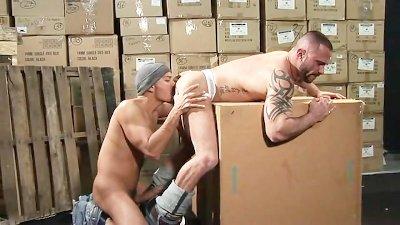 Antonio and Marco Stockroom Romp