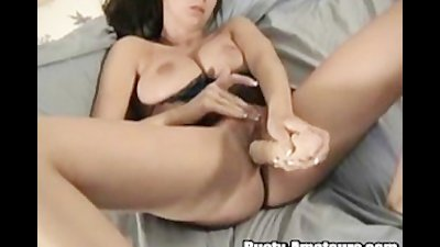 Penetrating vagina with toy