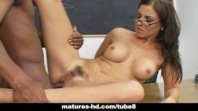 School teacher banged by big black cock