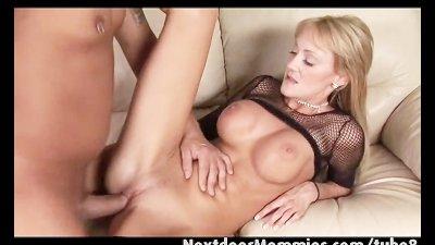 Big breasted blonde milf rides