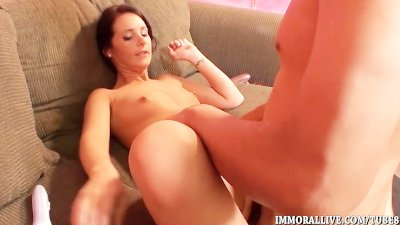 Cute Teen Squirts and Fucks
