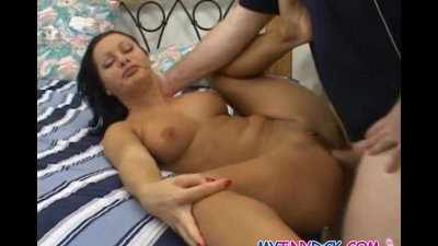 Hot babe gets her ass drilled by a tiny cock