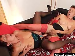 Unshaved grandma and strange mature c...