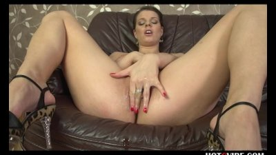 Squirting Euro Pornstar Covered in Oil